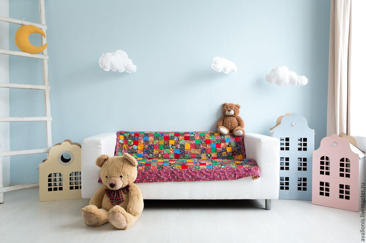 Newborn cotton blanket'Patchwork'patchwork, Blanket, Moscow,  Фото №1