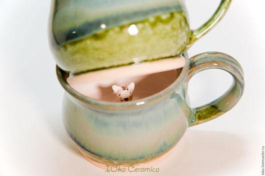 Кружки и чашки ручной работы. Ярмарка Мастеров - ручная работа. Купить Кошки хаки. Handmade. Хаки, кружка с кошкой