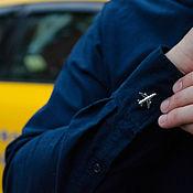 Запонки ручной работы. Ярмарка Мастеров - ручная работа Запонки с самолетом. Handmade.