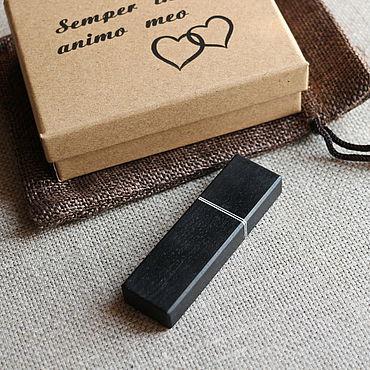 """Сувениры и подарки ручной работы. Ярмарка Мастеров - ручная работа Флешка """"Чёрный граб"""" 64Gb + коробочка + мешочек. Handmade."""