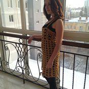 Одежда ручной работы. Ярмарка Мастеров - ручная работа Платье Золотое кружево. Handmade.