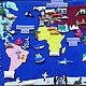 Развивающие игрушки ручной работы. Плакат КОНТИНЕНТЫ, Животные Мира. Фетровая страничка. Ярмарка Мастеров. Обитатели материков, животные америки