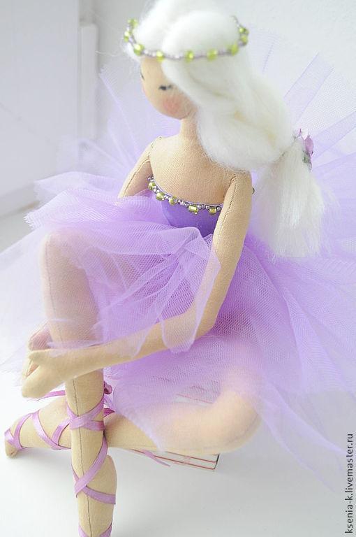Куклы тыквоголовки ручной работы. Ярмарка Мастеров - ручная работа. Купить Нежная балеринка. Handmade. Фиолетовый, тряпиенс