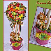 """Цветы и флористика ручной работы. Ярмарка Мастеров - ручная работа Топиарий """"Фруктовое деревце"""". Handmade."""