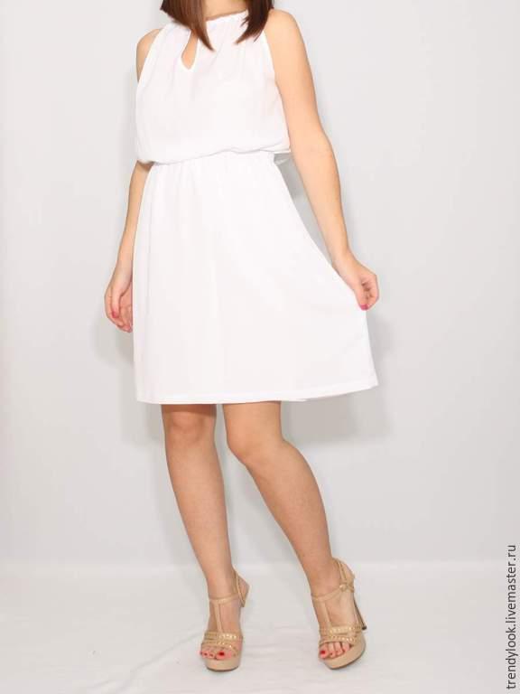 2d839c6ae32 Ярмарка Мастеров - ручная работа. Купить Белое платье из шифона