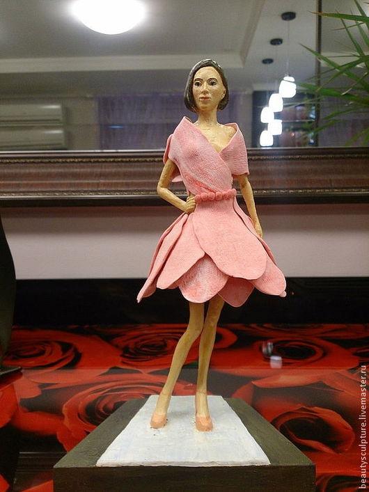 Миниатюрные модели ручной работы. Ярмарка Мастеров - ручная работа. Купить Девушка-цветок. Handmade. Розовый, подарок, мода, красота