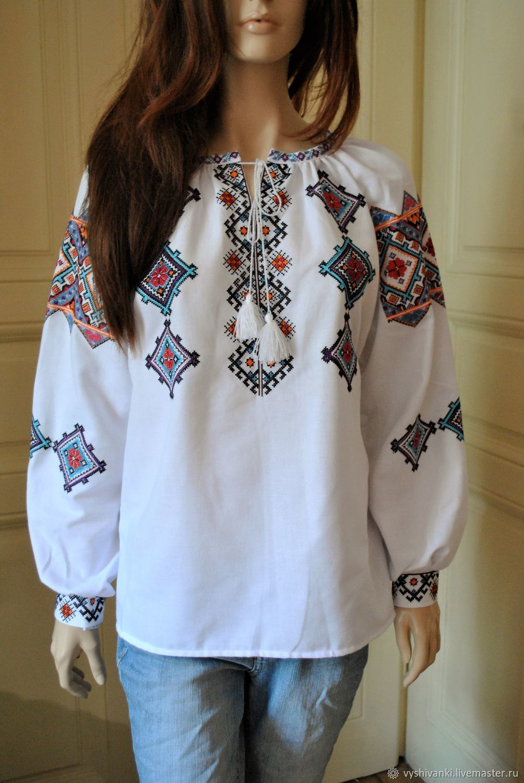 Этническая одежда ручной работы. Ярмарка Мастеров - ручная работа. Купить  Женская вышиванка изобилие вышитая ... 42c3977fd35e7