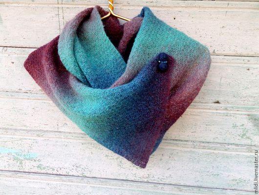 """Шарфы и шарфики ручной работы. Ярмарка Мастеров - ручная работа. Купить Вязаный шарф, длинный шарф,шарф ручной работы,с ошью """"Малахитовый лес"""". Handmade."""