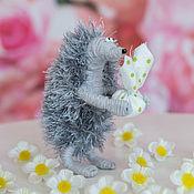 Куклы и игрушки ручной работы. Ярмарка Мастеров - ручная работа игрушка Ежик в тумане серый маленький. Handmade.