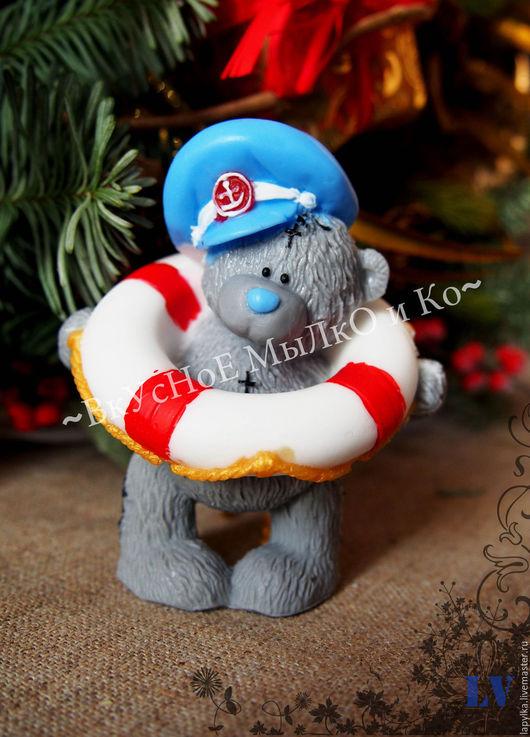 """Мыло ручной работы. Ярмарка Мастеров - ручная работа. Купить Мыло для рук """"Тедди-спасатель"""". Handmade. Тедди, медвежонок"""