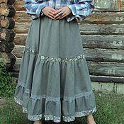 """Одежда ручной работы. Ярмарка Мастеров - ручная работа Длинная юбка """"Добрая"""". Handmade."""