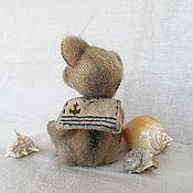 """Куклы и игрушки ручной работы. Ярмарка Мастеров - ручная работа """"Скучающий о море""""мини-мишка. Handmade."""