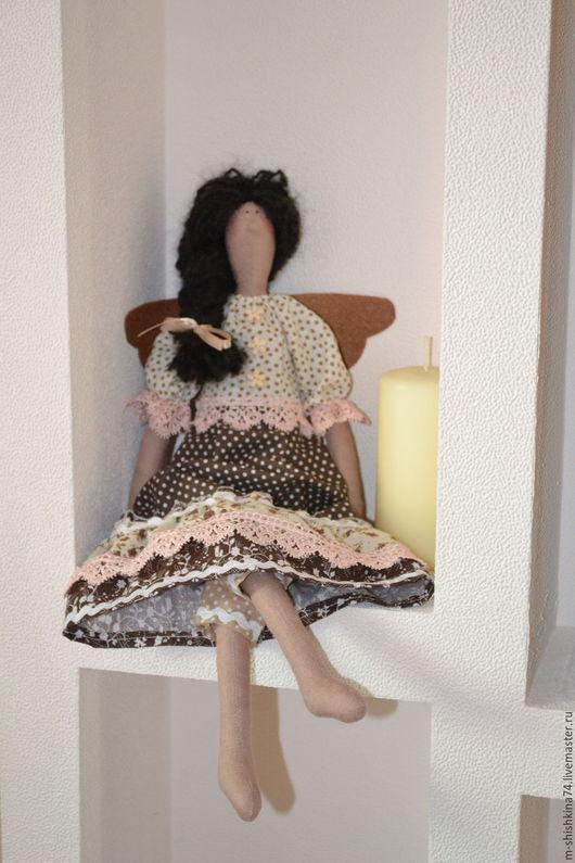 Куклы Тильды ручной работы. Ярмарка Мастеров - ручная работа. Купить Тильда-ангел  домашнего уюта. Handmade. Бежевый