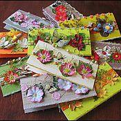 """Открытки ручной работы. Ярмарка Мастеров - ручная работа Открытки """"Цветы"""". Handmade."""