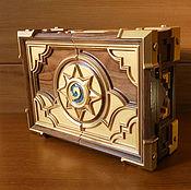 Сувениры и подарки handmade. Livemaster - original item Premium Box Solid Walnut Wooden Personalized Jewelry Box Thread. Handmade.