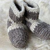Обувь ручной работы handmade. Livemaster - original item Woolen hand knitted slippers. Handmade.
