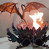 Скульптуры ручной работы. Ярмарка Мастеров - ручная работа Кострище (барбекю)дракон. Handmade.