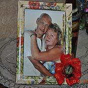 """Сувениры и подарки ручной работы. Ярмарка Мастеров - ручная работа Рамка для фото """"Счастливые моменты"""". Handmade."""