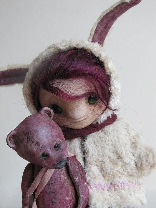 Коллекционные куклы ручной работы. Ярмарка Мастеров - ручная работа. Купить Сью и Хью. Handmade. Бежевый, миниатюра, шерсть