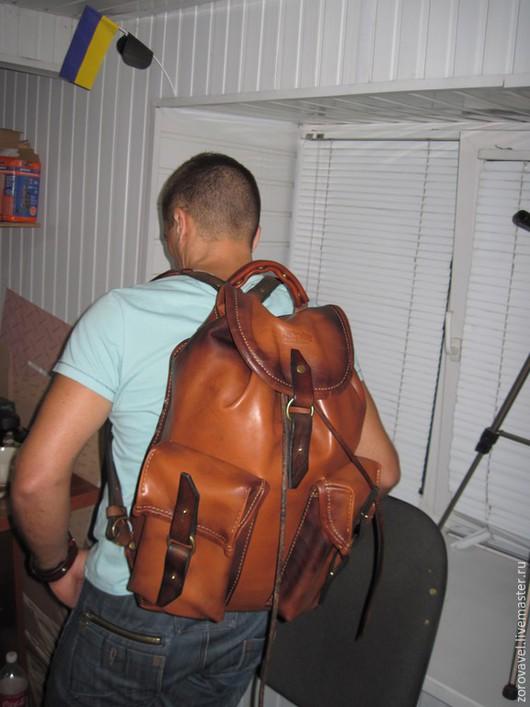 Сумки и аксессуары ручной работы. Ярмарка Мастеров - ручная работа. Купить Кожаный рюкзак,leather backpack 2. Handmade. Рыжий