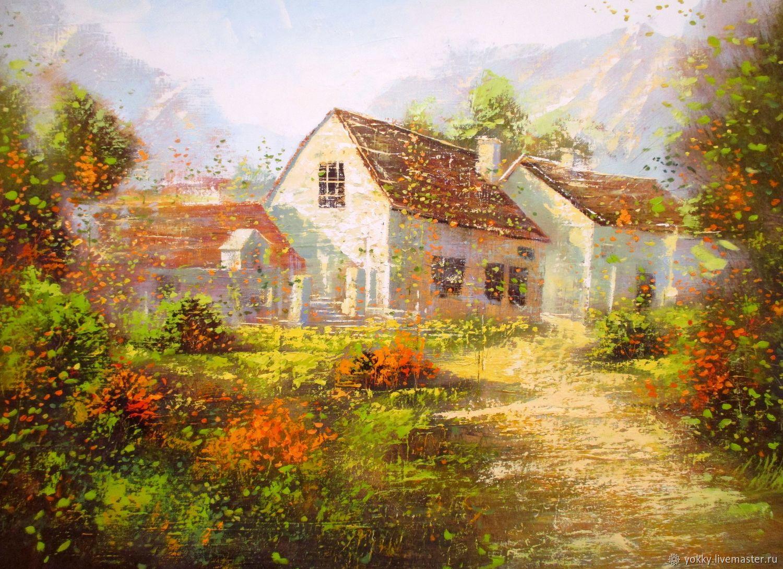 Картина Маслом, Импрессионизм, Сельский Летний Пейзаж, Картины, Петрозаводск,  Фото №1