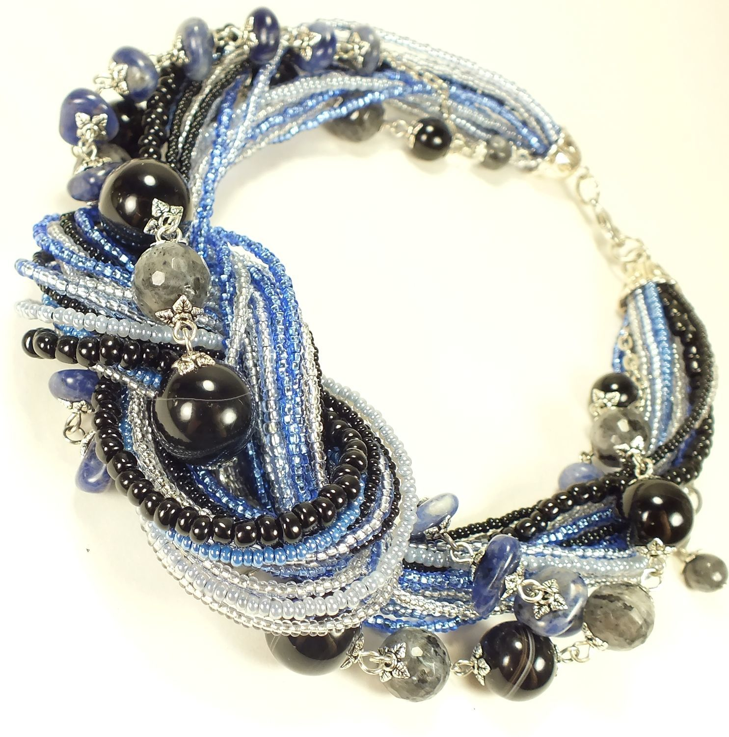 Sleepy Berry. Necklace of beads and natural stones, Necklace, St. Petersburg,  Фото №1