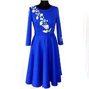 Одежда handmade. Livemaster - original item Dress knitted jacquard with embroidery