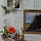 """Картины и панно ручной работы. Ярмарка Мастеров - ручная работа """"Дверь к счастью! Старая усадьба.""""  - панно миниатюра. Handmade."""