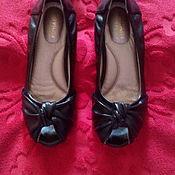 Винтаж ручной работы. Ярмарка Мастеров - ручная работа балетки женские кожаные черные. Handmade.