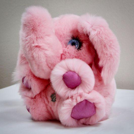Куклы и игрушки ручной работы. Ярмарка Мастеров - ручная работа. Купить Розовый слон мягкая игрушка из натурального меха. Handmade.