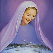 Картины и панно ручной работы. Ярмарка Мастеров - ручная работа Дева Мария над Россией. Handmade.