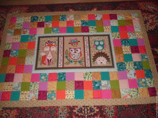 Персональные подарки ручной работы. Ярмарка Мастеров - ручная работа. Купить Покрывало одеяло сова ёж лиса. Handmade. Покрывало