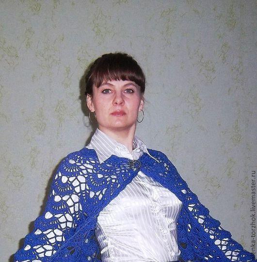 """Пиджаки, жакеты ручной работы. Ярмарка Мастеров - ручная работа. Купить Жакет """"Волна"""". Handmade. Синий, красота, модная одежда"""