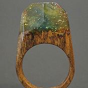 """Украшения ручной работы. Ярмарка Мастеров - ручная работа Деревянное кольцо """"Волшебная  принцесса 20"""", кольцо из дерева. Handmade."""