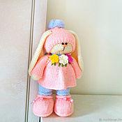 Куклы и игрушки ручной работы. Ярмарка Мастеров - ручная работа Вязаный зайчик с рюкзачком. Handmade.