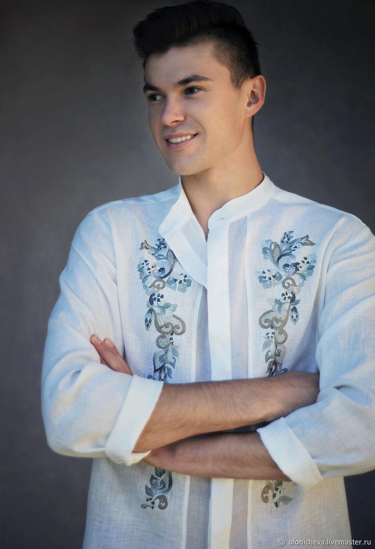 Embroidered men's shirt ' White', Mens shirts, Vinnitsa,  Фото №1