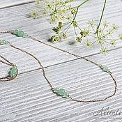 Украшения handmade. Livemaster - original item Long chain necklace with mint jadeite beads. Handmade.
