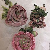 """Украшения ручной работы. Ярмарка Мастеров - ручная работа Броши трансформеры-""""Роза"""" - Розы из лент. Изысканное украшение. Handmade."""