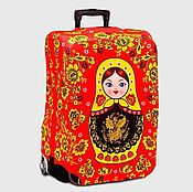 """Case handmade. Livemaster - original item Luggage cover """"Matrioshka"""". Handmade."""