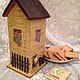 """Кухня ручной работы. Ярмарка Мастеров - ручная работа. Купить чайный домик"""" уютный"""" декупаж. Handmade. Разноцветный, подарок, бежевый"""
