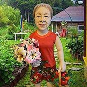 Куклы и игрушки ручной работы. Ярмарка Мастеров - ручная работа Дачница. Портретная кукла.. Handmade.