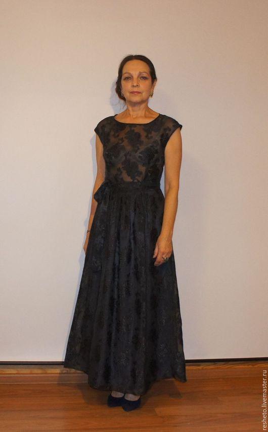 """Платья ручной работы. Ярмарка Мастеров - ручная работа. Купить Платье вечернее """"Полночь"""". Handmade. Черный, платье в пол"""