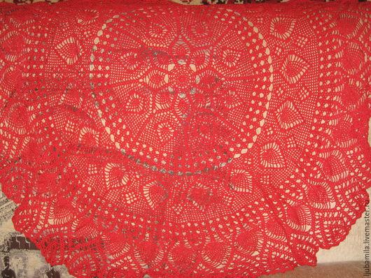 Текстиль, ковры ручной работы. Ярмарка Мастеров - ручная работа. Купить скатерть крючком. Handmade. Коралловый, красивая вещь
