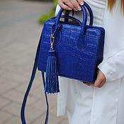 Сумки и аксессуары handmade. Livemaster - original item Galaxy crocodile leather handbag. Handmade.