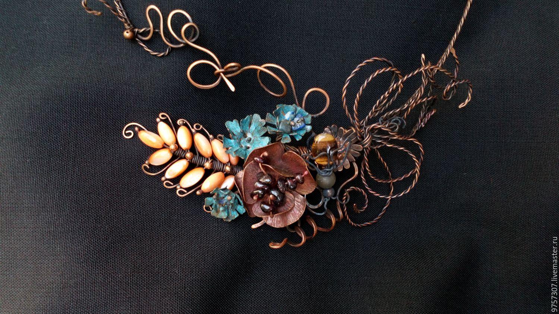 """""""Полевые цветы"""".Колье медное, Necklace, Labinsk,  Фото №1"""