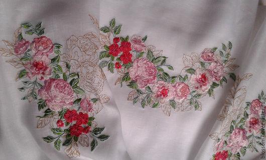 """Блузки ручной работы. Ярмарка Мастеров - ручная работа. Купить Блузка вышитая   """"В розовом цвету"""" ( готова к пошиву) ). Handmade."""