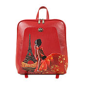 Сумки и аксессуары handmade. Livemaster - original item Women`s flat leather backpack