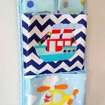 Для дома и интерьера ручной работы. Ярмарка Мастеров - ручная работа Кармашки в шкафчик для детского сада. Handmade.