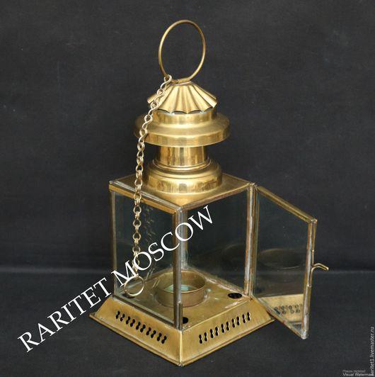 Винтажные предметы интерьера. Ярмарка Мастеров - ручная работа. Купить Лампа подсвечник фонарь светильник латунь Англия 19. Handmade.