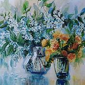 """Картины и панно ручной работы. Ярмарка Мастеров - ручная работа картина акварелью""""Цветы мая"""". Handmade."""